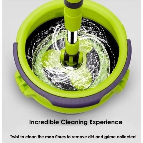 2-in-1 Space Saving Spin Floor Mop
