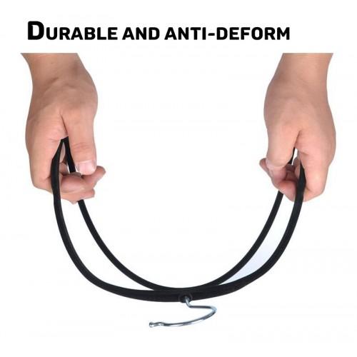Velvet Anti-Slip Hanger - 100Pcs Bundle (Black)
