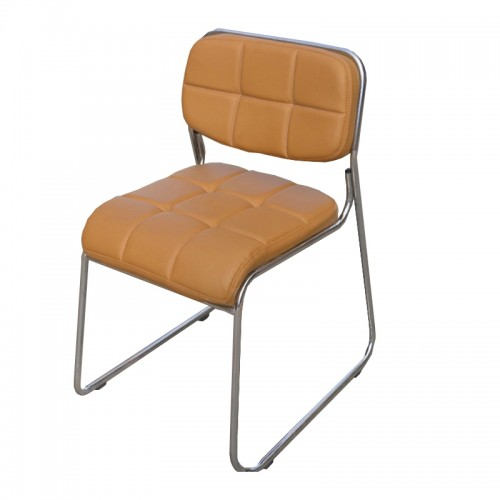 MORELLO Cushioned Stacking Chair (Brown) [Clearance]