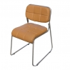 MORELLO Cushioned Stacking Chair (Black)