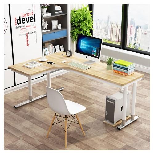 TESSA L-Shape Study Desk in Light Walnut (Left)