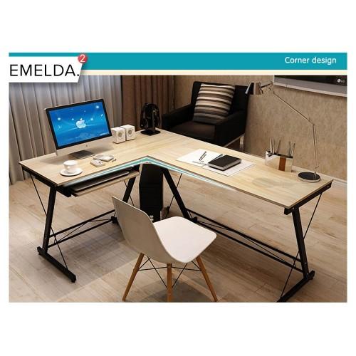 EMELDA L-Shape Study Desk
