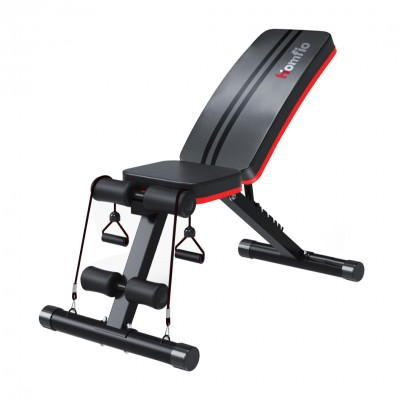 Home Gym 7-Positions Foldable Bench (Black)