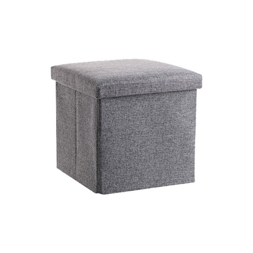 Fabric Footstool with Storage