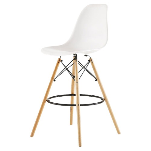 Eames Bar Stool with Backrest, Replica
