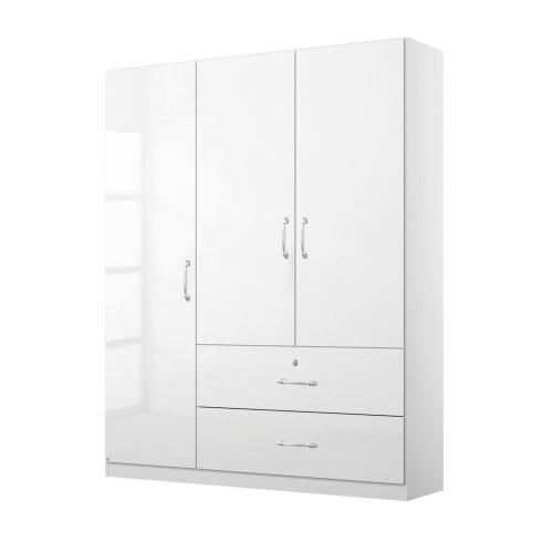 MALCOM 3 Door Wardrobe with Drawers
