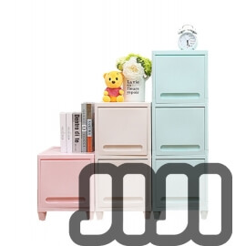 Vibrant-Coloured Storage Drawers