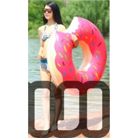 Pink Donut Inflatable Pool Float