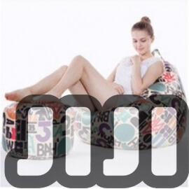 Designer Nami Bean Bag + Leg Rest Stool