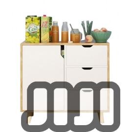 Lissoni Premium Kitchen Cabinet (1 DOOR + 3 DRAWERS)