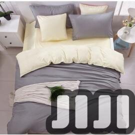 4 - in -1 Grey With Cosy Cream Bedsheet Set