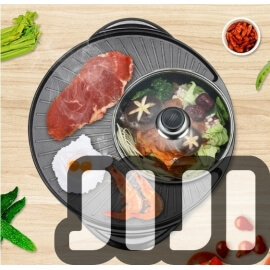 Andor 2-in-1 BBQ Steamboat Pot