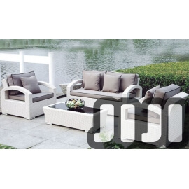 Tango Outdoor Ratten Tempered Glass 2+1+1 Sofa Set With Coffee Table (002)