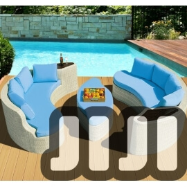 Tango Outdoor Ratten 4 + 4 Seater Designer Sofa Set With Coffee Table(007)