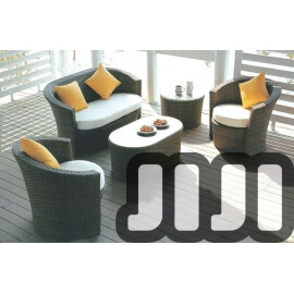 Tango Outdoor Ratten 2 + 1 + 1 Sofa Set With Coffee Table and 1 Side Table (013)
