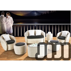 Tango Outdoor Ratten 2 + 1 + 1 Sofa Set with Coffee Table and 2 stools (OFOS01))