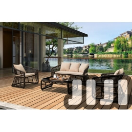 Tango Outdoor Ratten Retro Designer 3+1+1 Sofa Set With Coffee Table (OFOS02)