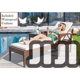 Tango Outdoor Ratten Regular Lounge Bench (OFOS02)