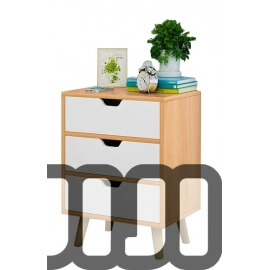 Latinos Bedside Cabinet (Triple drawers)