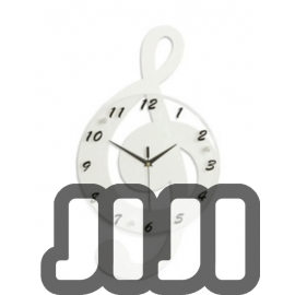 Musical Lyrics Hanging Wall Clock