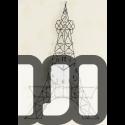 Eiffel Tower Hanging Wall Clock