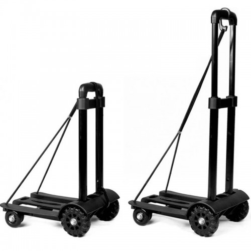Compact 4-Wheels Trolley - Black