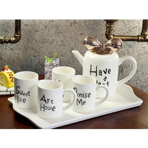 Modern Coffee Mug 5PCS Dishware Set