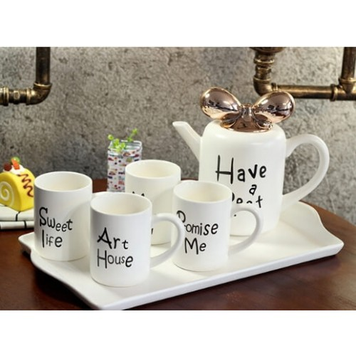 Modern Coffee Mug 5PCS Dishware Set