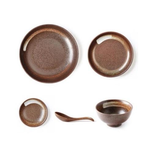 Modern Japanese 22 Pcs Dishware Set (Brown Affinity)