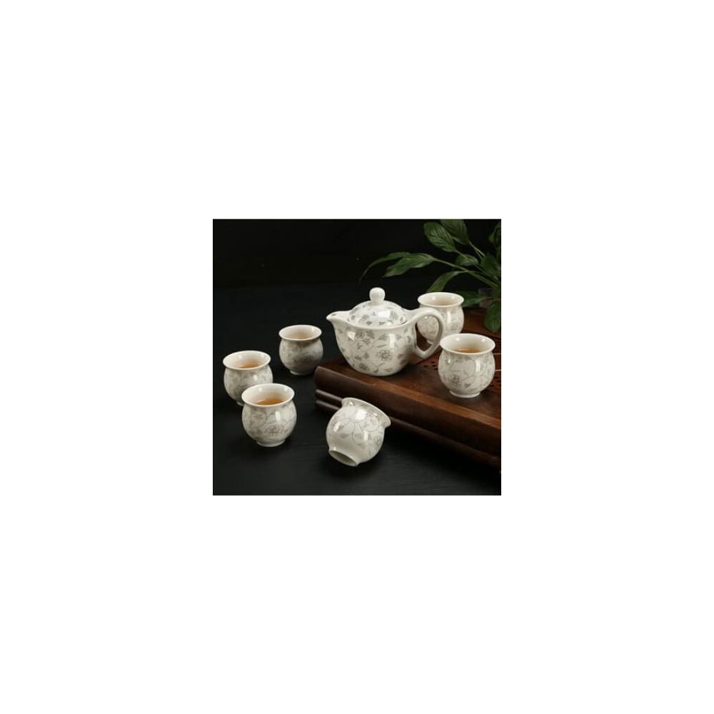Premium XL Ceramic Teapot Set 6PCs (Design 1)