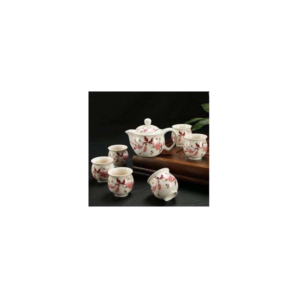 Premium XL Ceramic Teapot Set 6PCs (Design 9)