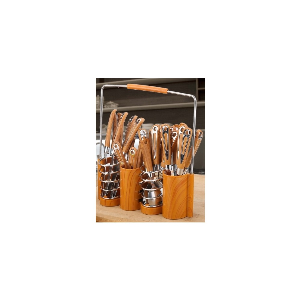 Western Dining 24 Pcs Cutlery with Rack Holder